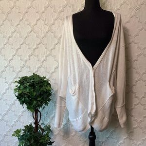Free People White Oversized Cardigan